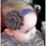 Crochet Flower Headband Tau..
